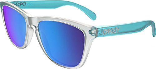 Oakley Men's Frogskins Non-Polarized Iridium Square Sunglasses, Matte Clear, 55 - Sunglasses Frogskins