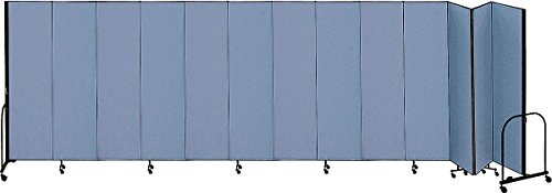 (Screenflex - CFSL7413 Blue - 24 ft. 1 in. x 7 ft. 4 in, 13-Panel Portable Room Divider, Blue)