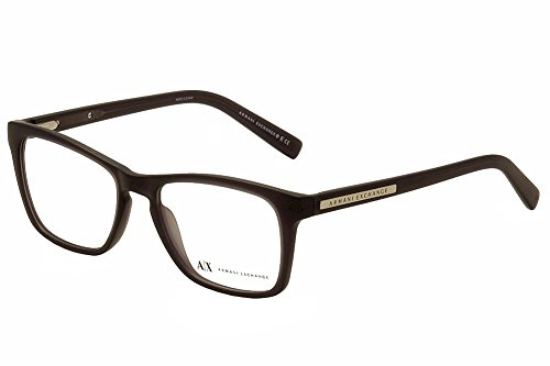 Armani Exchange AX 3012 Unisex Eyeglasses Matte Black Transparent - Womens Giorgio Armani Glasses