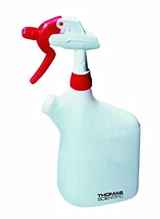 Thomas 3340 Polypropylene 1000mL Double Headed Spray Wash Bottle