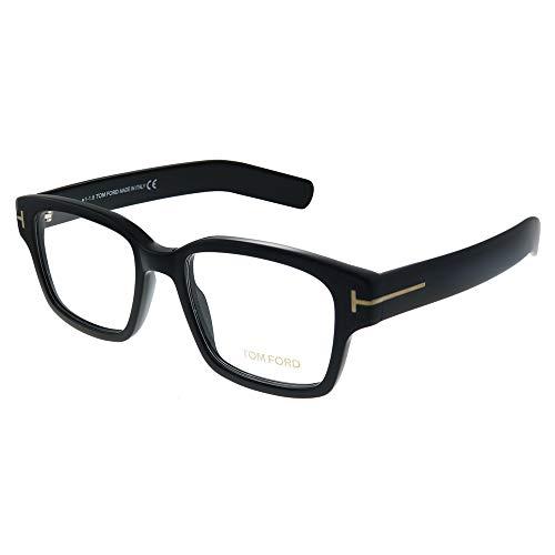 Tom Ford FT 5527 001 Black Plastic Square Eyeglasses ()