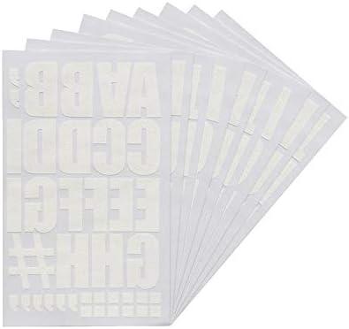 Magfok Iron on Letter Black 3//4-Inch Transfer Black or White Optional 8 Sheet