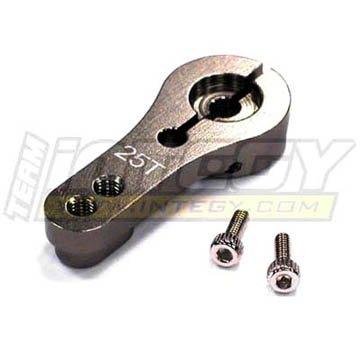 Integy RC Hobby C22944GUN Alloy Servo Horn 25T for Futaba Servo (r=20, 24mm)