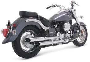Cruzers System Exhaust Hines (Vance and Hines Cruzers Full System Exhaust for Yamaha 2004-05 V-Star 650 model - One Size)