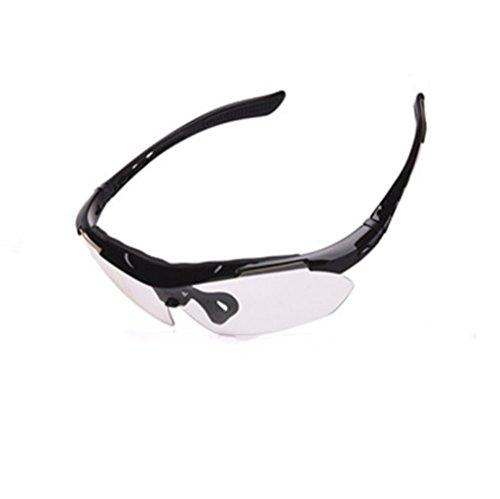 de Sol Prueba Montar a Gafas miopía Viento NEGRO C5Iqx