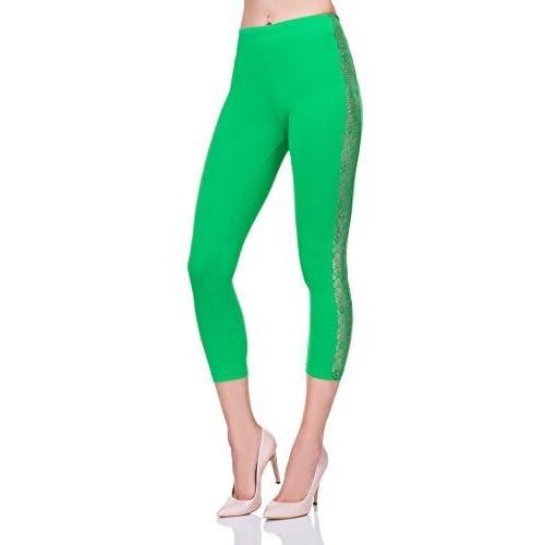 3cf05743ed FUTURO FASHION Corto 3 4 largo leggings de algodón con encaje Active BAILE  Pantalones lpl34