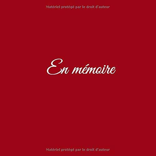 En Mémoire Livre De Condoleances En Mémoire Livre