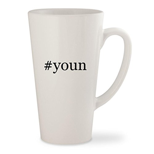 #youn - White Hashtag 17oz Ceramic Latte Mug Cup (Chat Samsums)