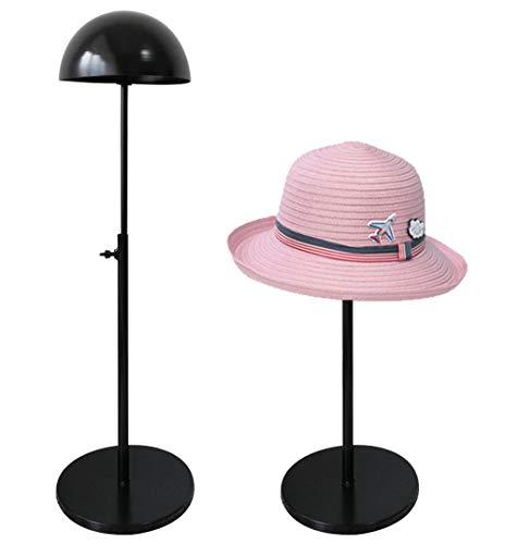 (Queens Adjustable Height Hat Stand Metal Dome Shape Design Tabletop Wig Display Rack)