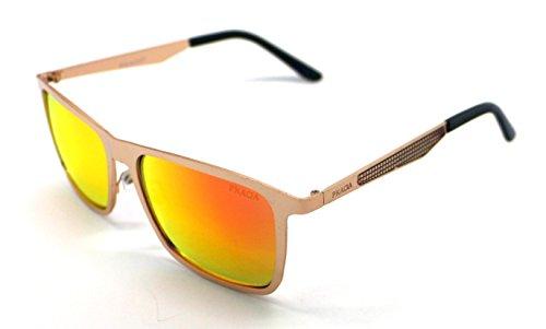 Sunglasses Mujer Sol de 400 Pkada Calidad Hombre UV Gafas Dorado Alta PK3051 8aUqwO