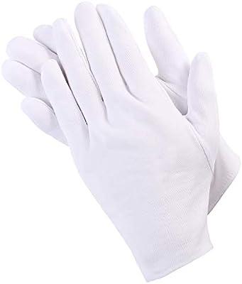 gulinkaituozhe 24 pares de algodón blanco guantes de algodón puro ...
