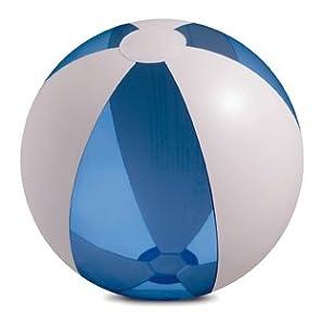 Wasserball - Strandball - Durchmesser ca. 25 cm - transparent hellblau/ weiß