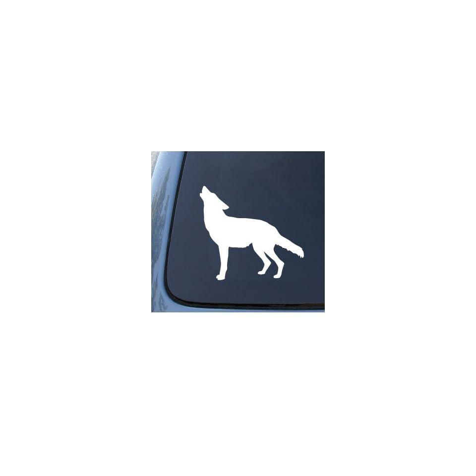 WOLF SILHOUETTE   Howling   Car, Truck, Notebook, Vinyl Decal Sticker