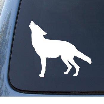 WOLF SILHOUETTE Howling Notebook Sticker
