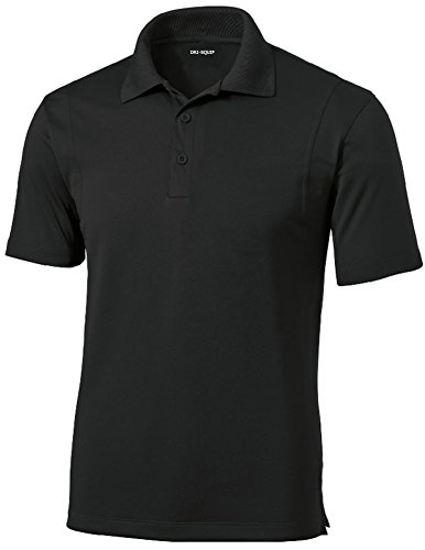 DRI-EQUIP Mens Moisture Wicking Micropique Golf Polo Cleaning Shirt
