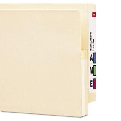 1 3/4'' Accordion Expansion End Tab File Pocket, Straight Tab, Ltr, Manila, 25/Bx, Total 100 EA, Sold as 1 Carton