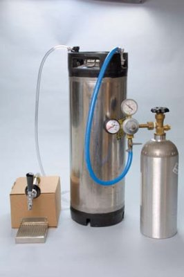 Refrigerator Cornelius Keg system - Ball Lock Keg by Home Brew Stuff