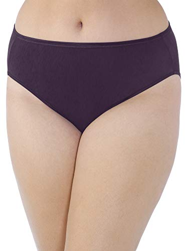 (Vanity Fair Women's Plus Size Illumination Hi Cut Panty 13810, Sangria, 4X-Large/11)