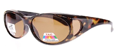 - Polarized Fit Over Sunglasses 2865, Size Medium, Tortoise