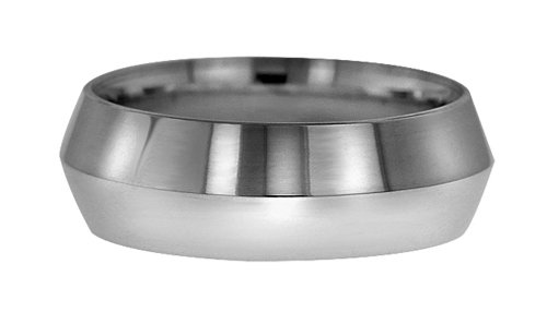 Wedding Bands; Platinum Knife Edge Wedding Bands Men`s and Women`s 9mm Wide Comfort Fit