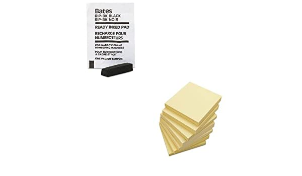 Bates Ready-Inked Pad for Multiple//Lever Movement Numbering Machine Black