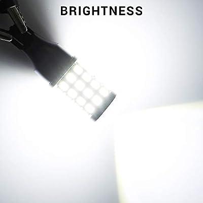 NINGLE 921 LED Reverse Light Bulb White 2000 Lumens Extremely Bright 904 906 912 920 T15 W16W 579 921 LED Bulb for Backup Reverse Light Bulbs Canbus Error Free 6000K (Pack of 2): Automotive