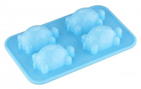 Silicona molde para hielo - tortuga - para 4 paper-cubitos de hielo