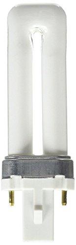 Plusrite #4002 PL5W/1U/2P/41K 5 watt Single-Tube Compact Fluorescent Lamp, 2-Pin (G23) base, 4100K, 250 lumens, 10,000hr - Compact 41k Lamp Fluorescent