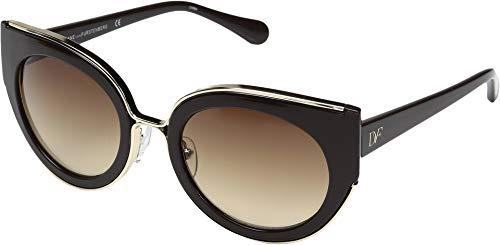 Diane Von Furstenberg Women's DVF626S Norah Round Sunglasses, Brown, 51mm -