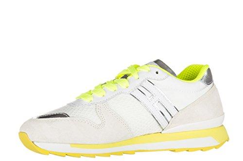 Hogan Rebel Zapatos Zapatillas de Deporte Mujer EN Ante Nuevo r261 Allacciato Bl