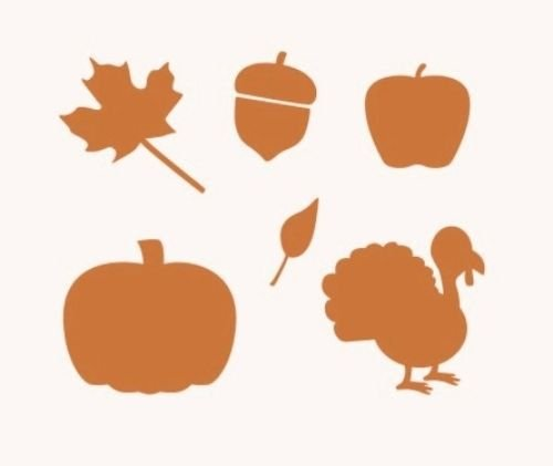 OutletBestSelling Stencil Autumn Leaves Turkey Apple Pumpkin Acorn Crafts Signs Projects