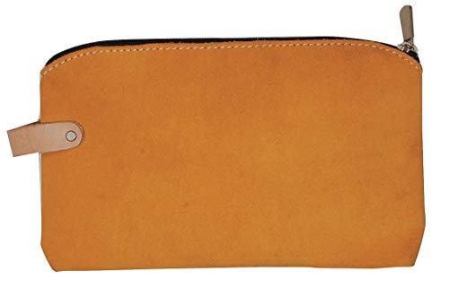 (Westward 13T120 Suede Zippered Bag, 11 Lx1/2 Wx6-1/2 In H)