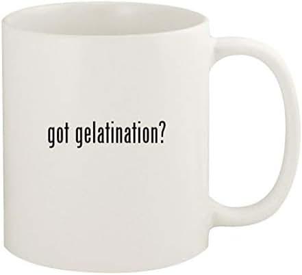 got gelatination? - 11oz Ceramic White Coffee Mug Cup, White