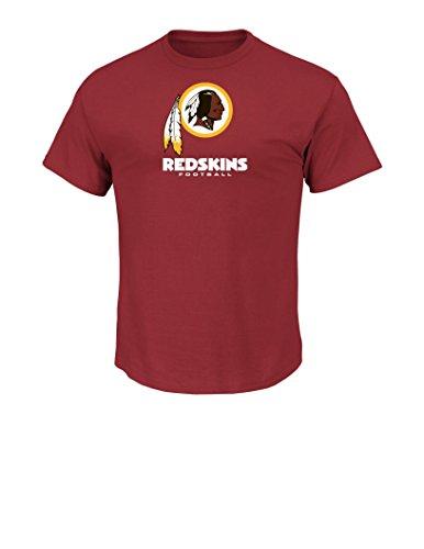 NFL Washington Redskins Men's UP4 Tee, Dark Garnet, X-Large – Sports Center Store