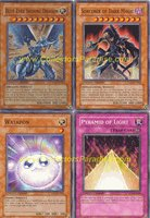 Great Yu Gi Oh Cards PROMO   MOVIE SET OF ALL 4 CARDS (MOV