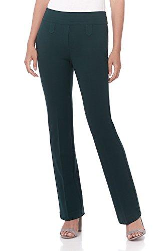 Rekucci Women's Secret Figure Pull-On Knit Bootcut Pant w/Tummy Control (12,Hunter Green)