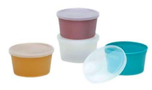 Denture Cup, Transparent W/Lid, 25 Units 1 pack