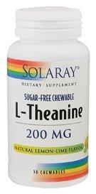 Solaray - L-Théanine 200mg à croquer, 30 comprimés à croquer