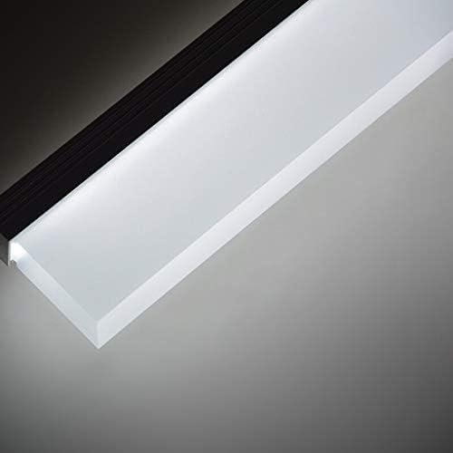 Espejo de baño para faros, espejo de baño, lámpara de maquillaje LED, moderna, minimalista, resistente al agua, antiempañamiento, espejo (Edición: luz cálida)