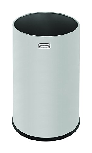 Rubbermaid Commercial Metallic Series Trash Can, 5 Gallon, Stainless Steel ()