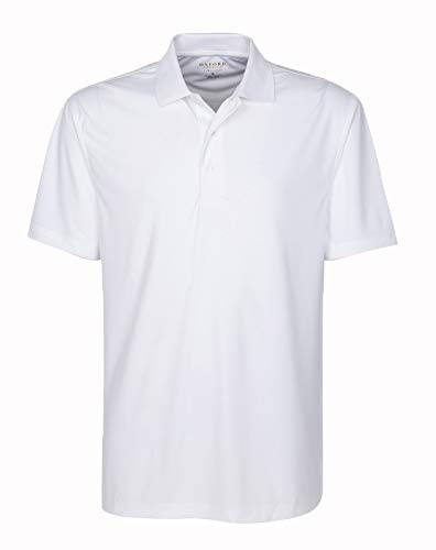 Oxford America Burke 100/% Polyester Solid Polo White Medium
