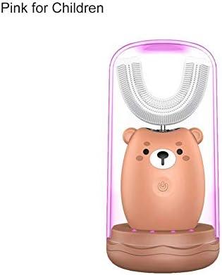 Sensecrol 360 ° Ultraschall U-Form elektrische Zahnbürste Kinder elektrische Zahnbürste Cartoon wiederaufladbare wasserdichte automatische Whitening Zahnbürste für 2-7Baby/8-16 Jahre Kinder