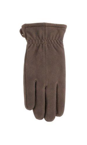 Men's 'Jackaroo' Sheepskin Leather Gloves with Fleece Lining By Grandoe (9.5-10 (L), Brown Well Won)