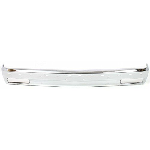 (Bumper compatible with Chevrolet S10 Blazer 91-94/S10 Pickup 91-93 Front Bumper Chrome w/Molding Holes)
