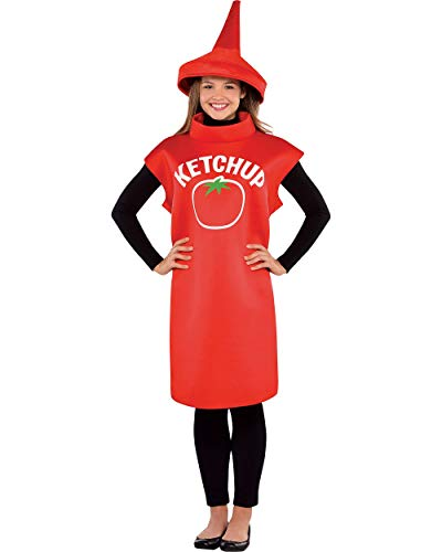 AMSCAN Halloween Ketchup Costume Classic for Adults, Standard, with -