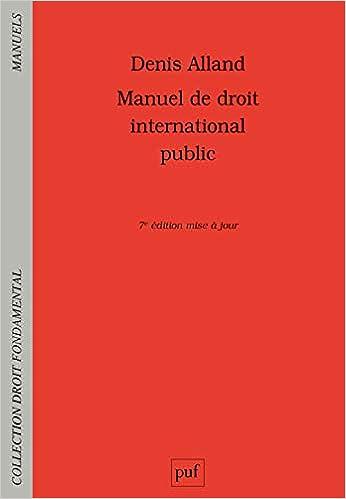 Book's Cover of Manuel de droit international public (Français) Broché – 3 juin 2020