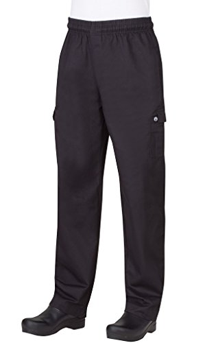 Chef Works Mens Cargo Chef Pants, Black, Small by Chef Works