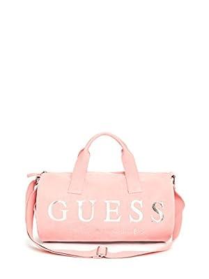 Guess Velvet Logo Small Duffle Bag