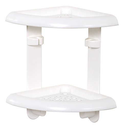 ZPC Zenith Products Corporation 370W Zenna Home, Bath and Shower Corner Caddy, White