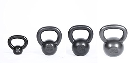 Ader Premier Kettlebell Set- (5, 15, 25, 35 Lb) 4 Pcs w./ DVD by Ader Sporting Goods